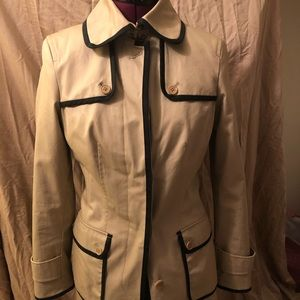 BR Trench Coat with black piping.